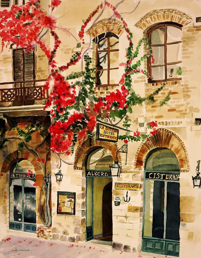 Award-winning Painting - San Gimignano by Judy Swerlick