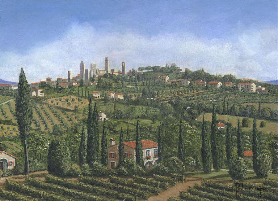 San Gimignano Tuscany Painting