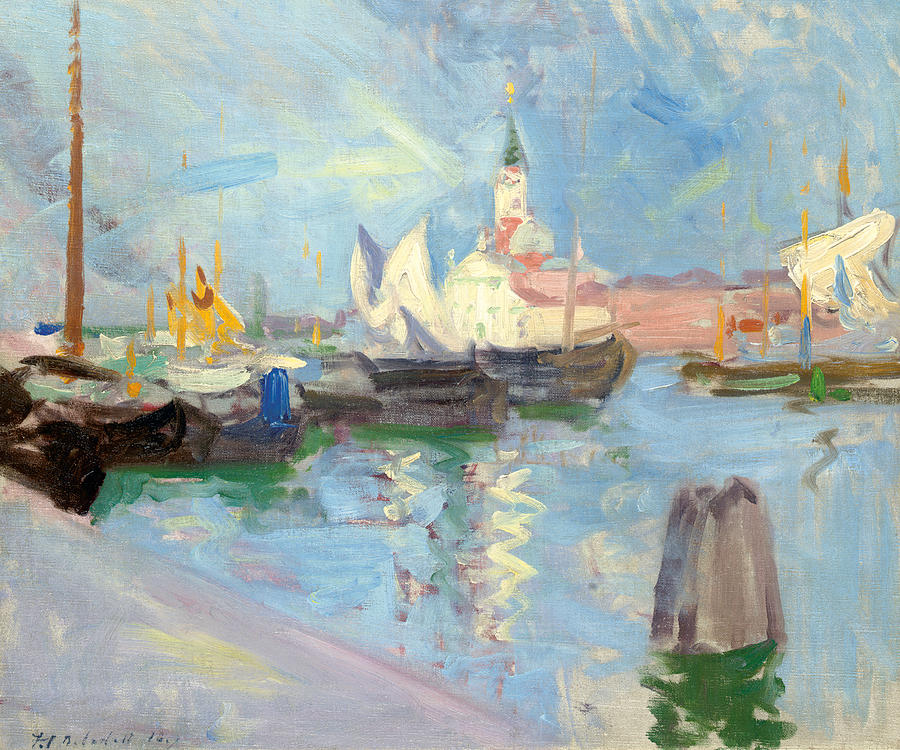 Cadell Painting - San Giorgio Maggiore  Venice by Francis Campbell Boileau Cadell