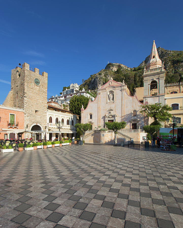 San Giuseppe Church And Clock Tower In Photograph by Guy Vanderelst