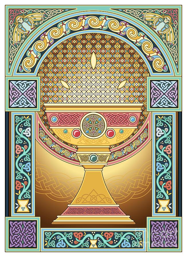 Celtic Painting - San Graal by Cari Buziak