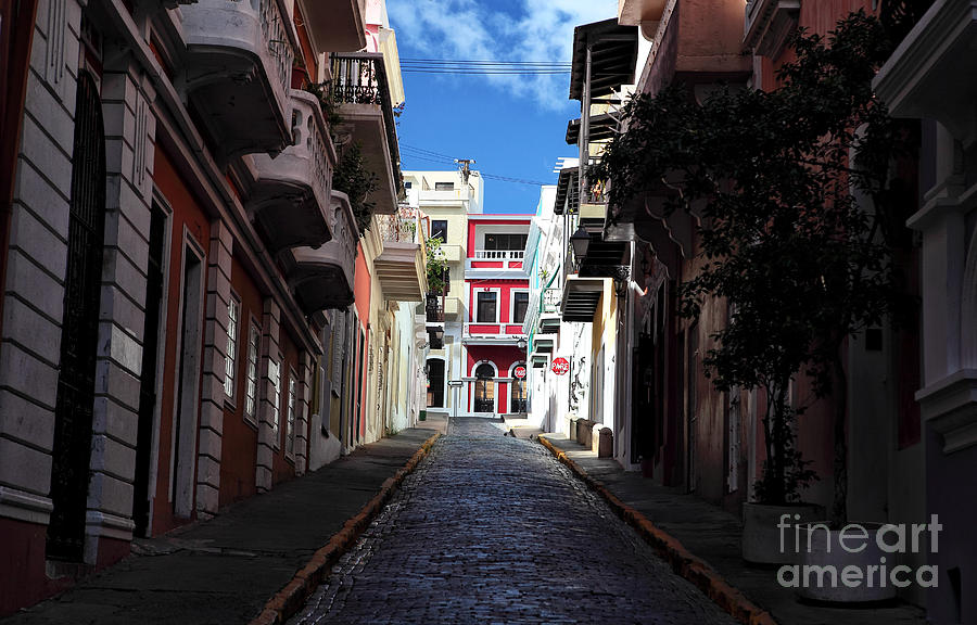 Alley Photograph - San Juan Alley by John Rizzuto