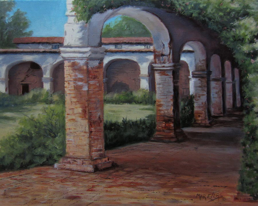 Mission Painting - San Juan Capistrano  by Mar Evers
