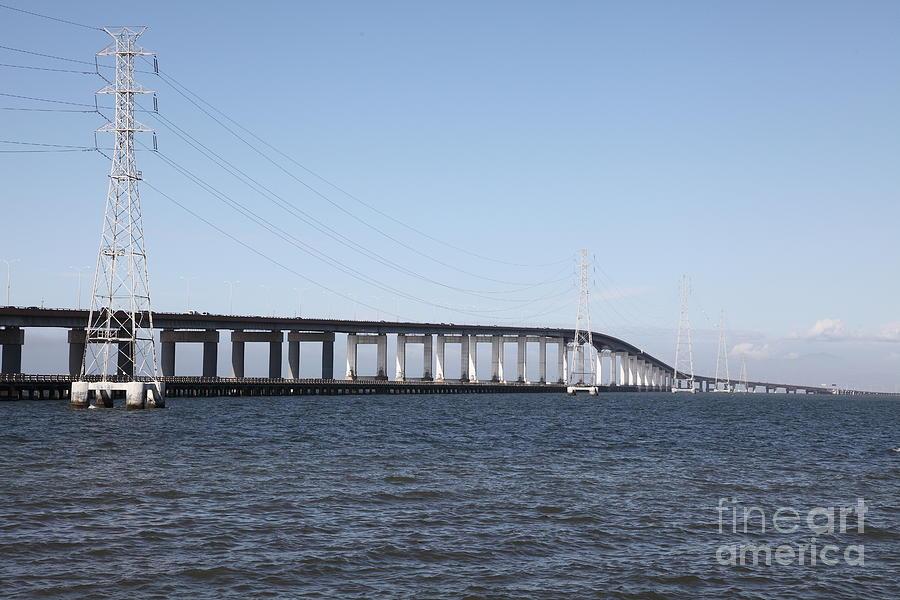 San Mateo Photograph - San Mateo Bridge In The California Bay Area 5d21889 by Wingsdomain Art and Photography