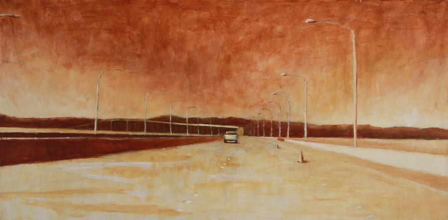 Landscape Painting - San Mateo Bridge by Jeff Levitch