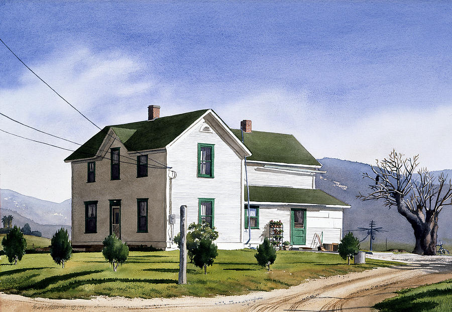 House Painting - San Pasquale House by Mary Helmreich