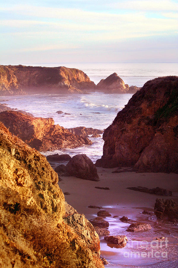 Sunset Photograph - San Simeon Coastal View by Michael Rock