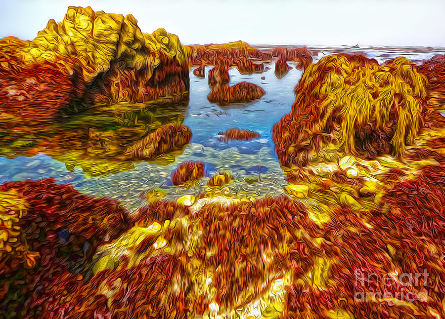 San Simeon - Sea Shore - 03 Painting by Gregory Dyer