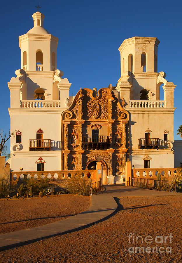 San Xavier Del Bac Photograph - San Xavier Mission by Mike  Dawson