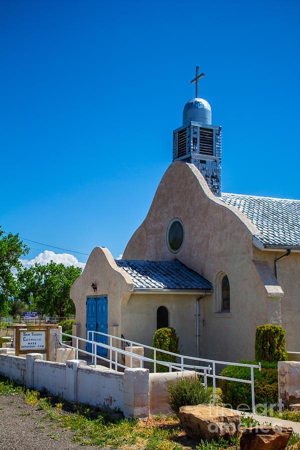 Church Photograph - San Ysidro Blue by Jim McCain