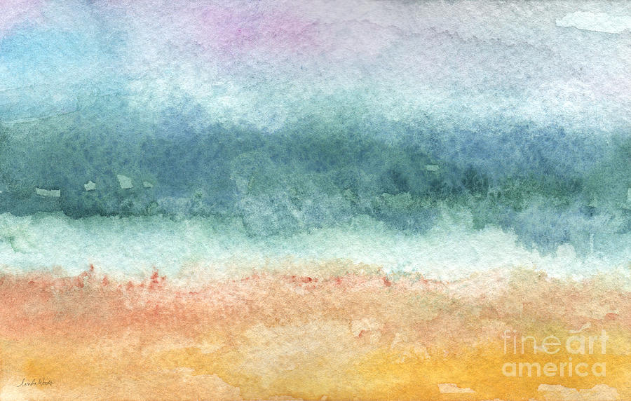 Abstract Painting - Sand And Sea by Linda Woods
