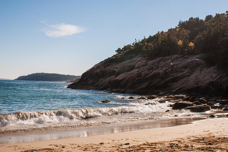 Sand Beach in Acadia by Kristen Mohr