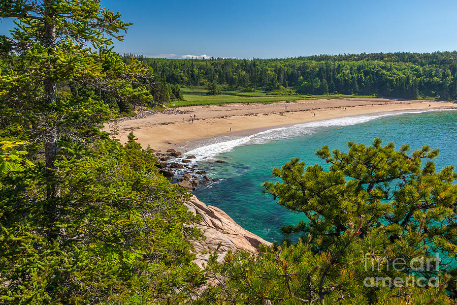 Acadia National Park Photograph - Sand Beach In Acadia by Susan Cole Kelly
