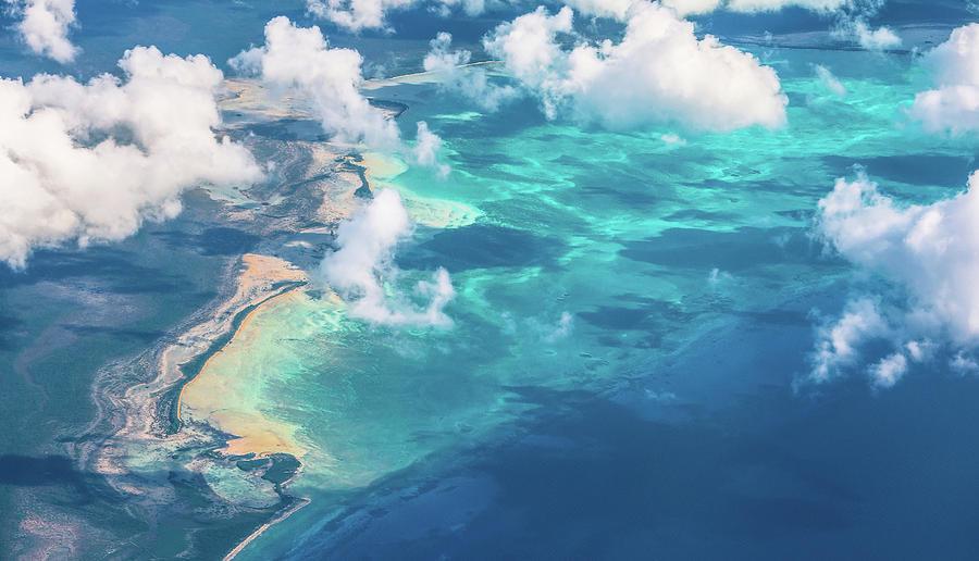 Aerial Photograph - Sand Beach Meets Ocean by David D
