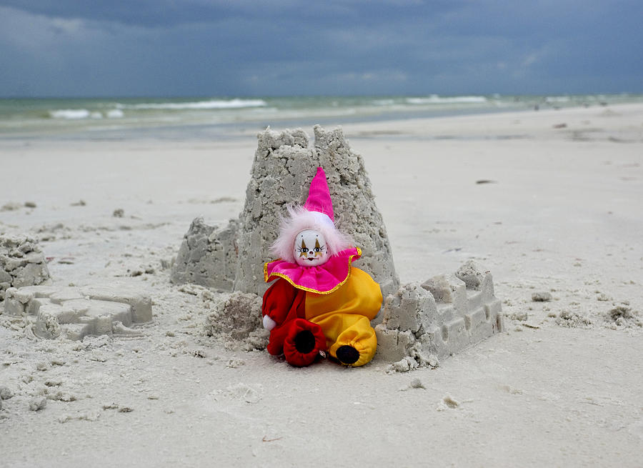 Clown Photograph - Sand Castle Jester by William Patrick