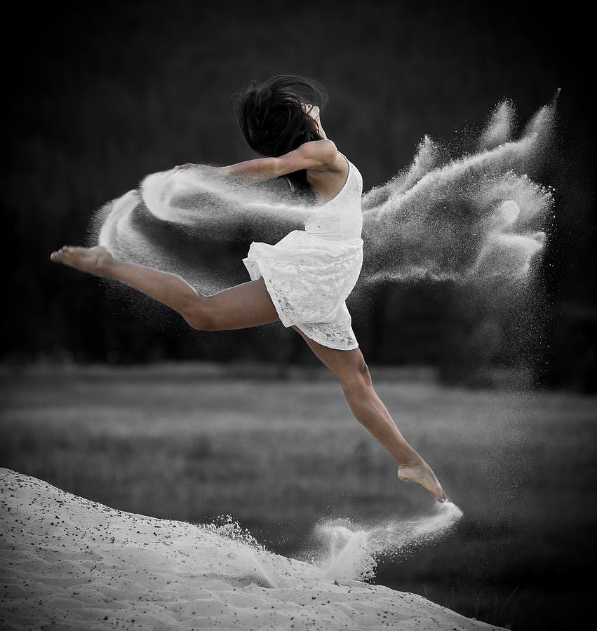 Dance Photograph - Sand Dance by Marie-Dominique Verdier