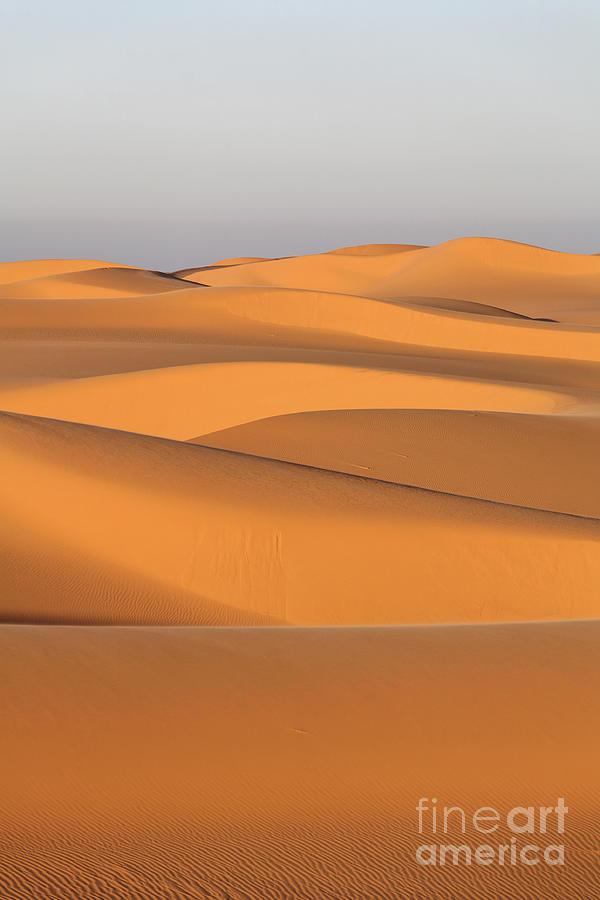 Libya Photograph - Sand Dunes In The Sahara Desert by Robert Preston