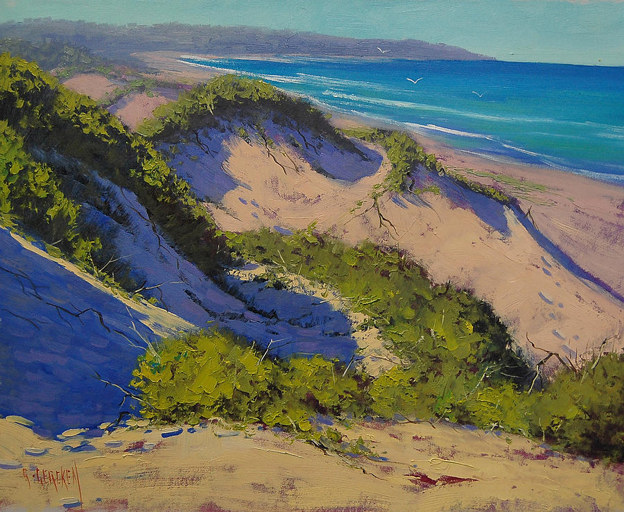 Beach Dunes Painting - Sand Dunes Oil Painting by Graham Gercken