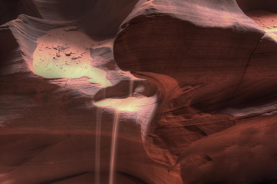 Antelope Canyon Sand Flow Photograph