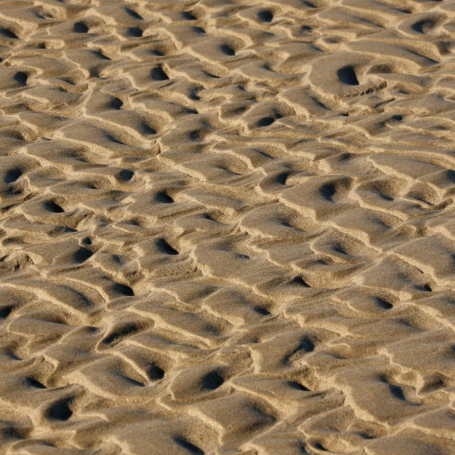 Sand Photograph - Sand Patterns by Art Block Collections