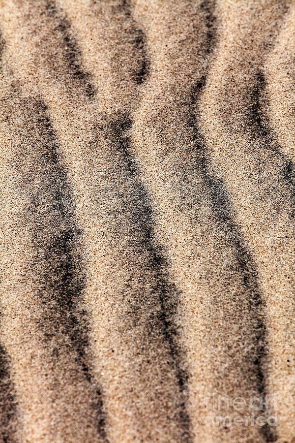 Sand Patterns Photograph - Sand Patterns IIi by John Rizzuto