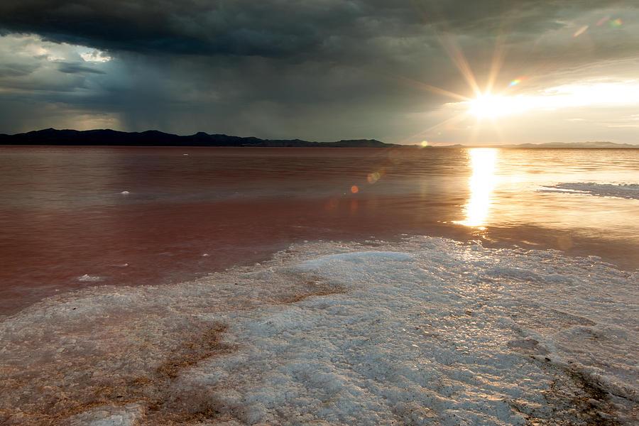 Great Salt Lake Photograph - Sand Salt And Sunshine by Darryl Wilkinson