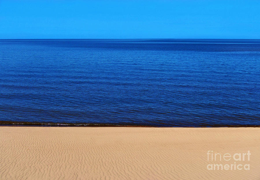 Beach Photograph - Sand Sea and Sky by Kathi Mirto
