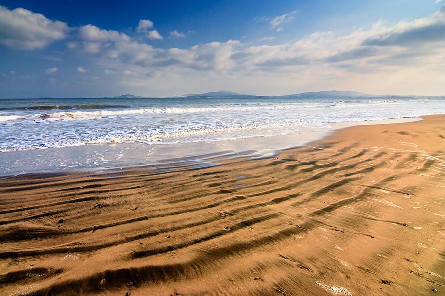 Sea Photograph - Sand Waves by Evgeni Dinev