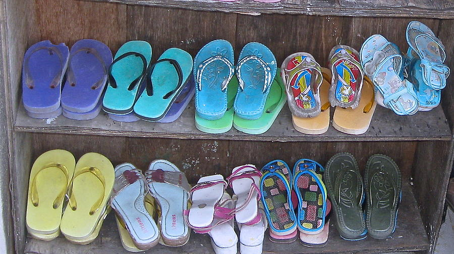 Color Photograph - Sandals by Russell Smidt