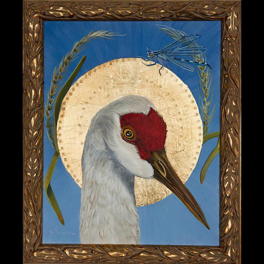 Sandhill Crane Painting - Sandhill And Damsel by Amy Reisland-Speer