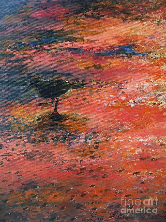 Beach Painting - Sandpiper Cape May by Eric  Schiabor