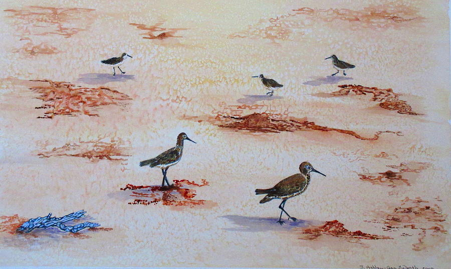 Sandpipers on Sanibel by Ashley Goforth