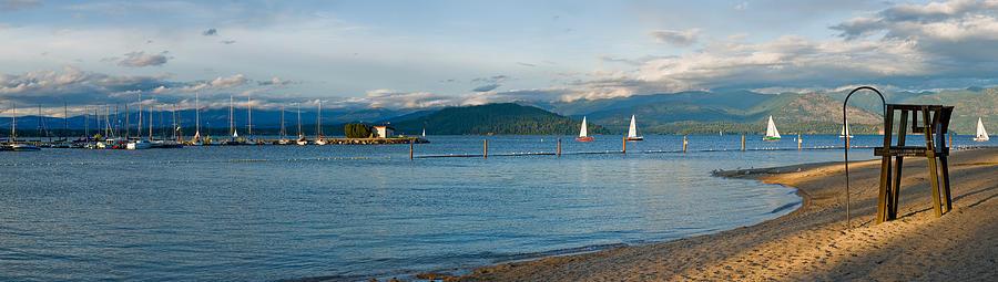 Sandpoint City Beach Photograph by Marie-Dominique Verdier