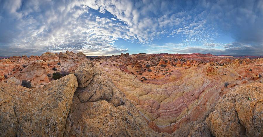 360 View of Vermillion Cliffs  Photograph by Yva Momatiuk John Eastcott