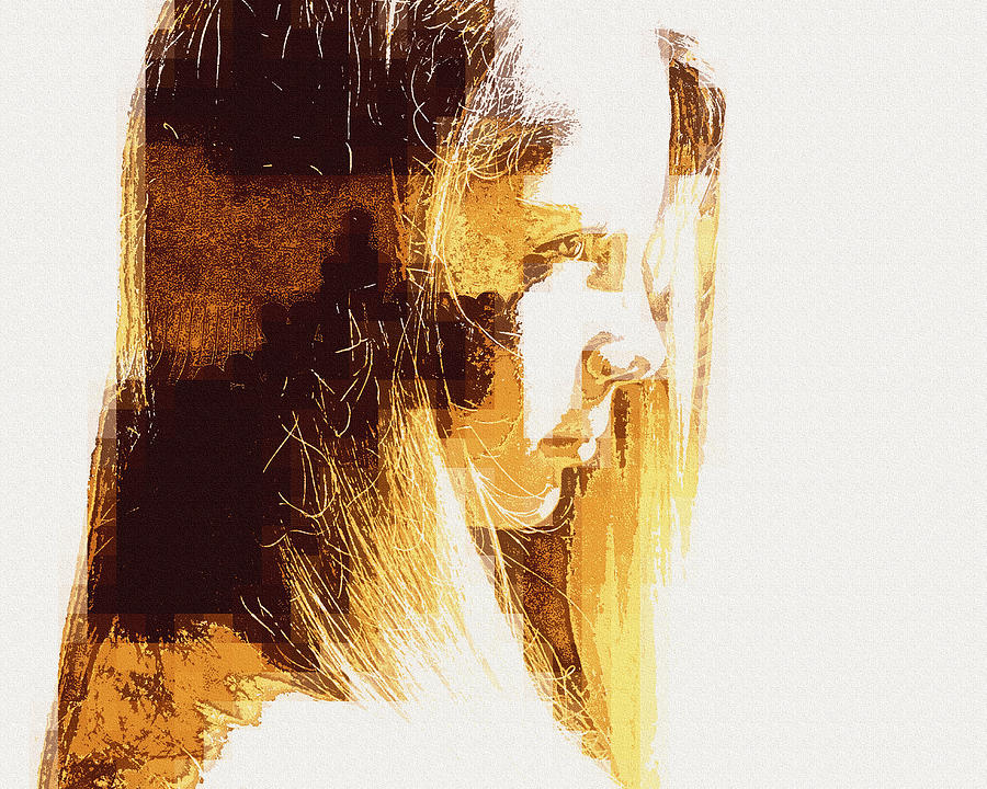 Portrait Photograph - Etched Sandstone by Jodie Marie Anne Richardson Traugott          aka jm-ART