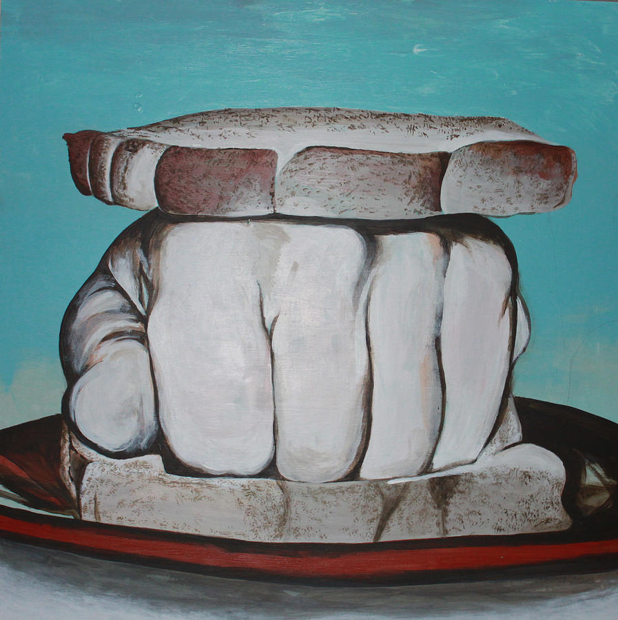 Knuckle Sandwich Painting - Sandwich Of The Day by Kate Tesch