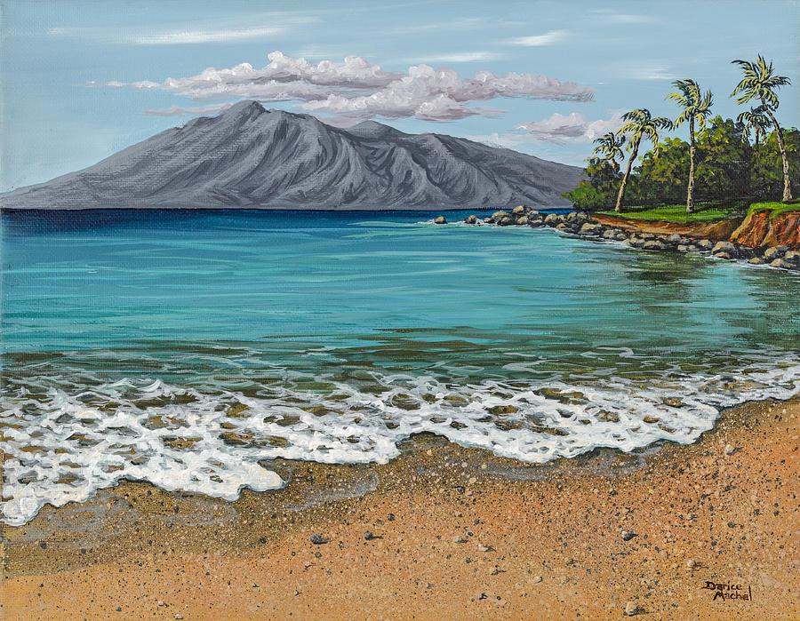 sandy beach painting by darice machel mcguire