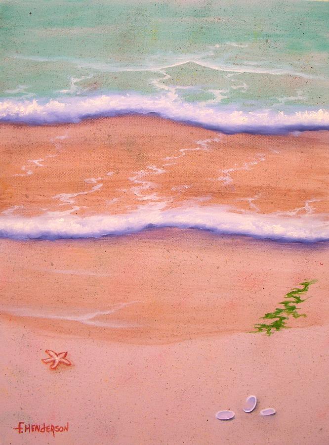 Sand Painting - Sandy Beach by Francine Henderson