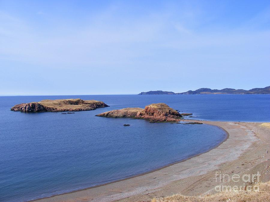 Sandy Beach Photograph - Sandy Beach - Little Island - Coastline - Seascape  by Barbara Griffin