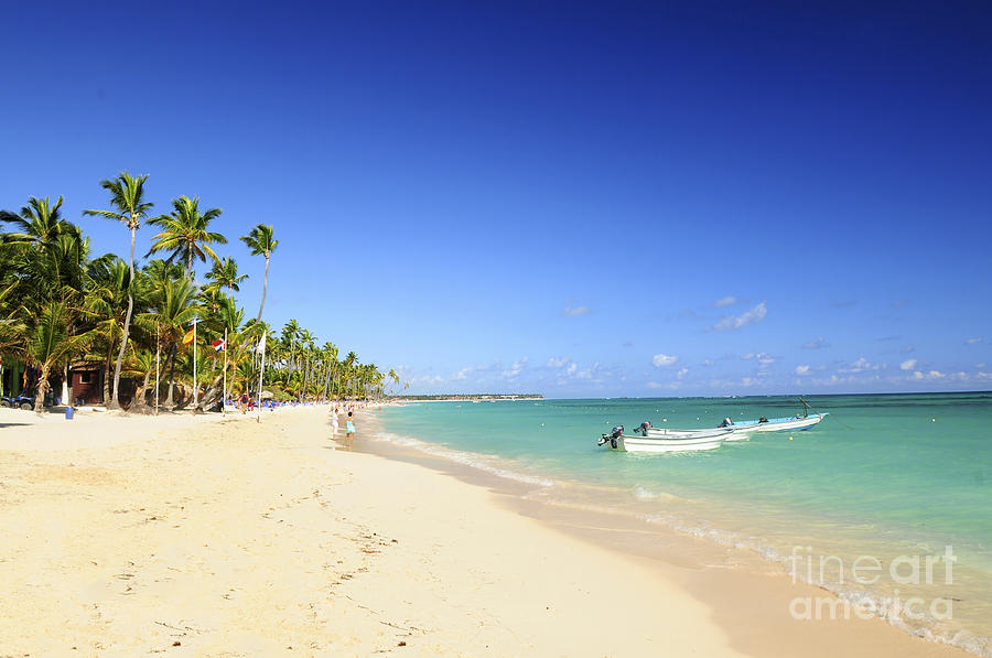 Sea Photograph - Sandy Beach On Caribbean Resort  by Elena Elisseeva