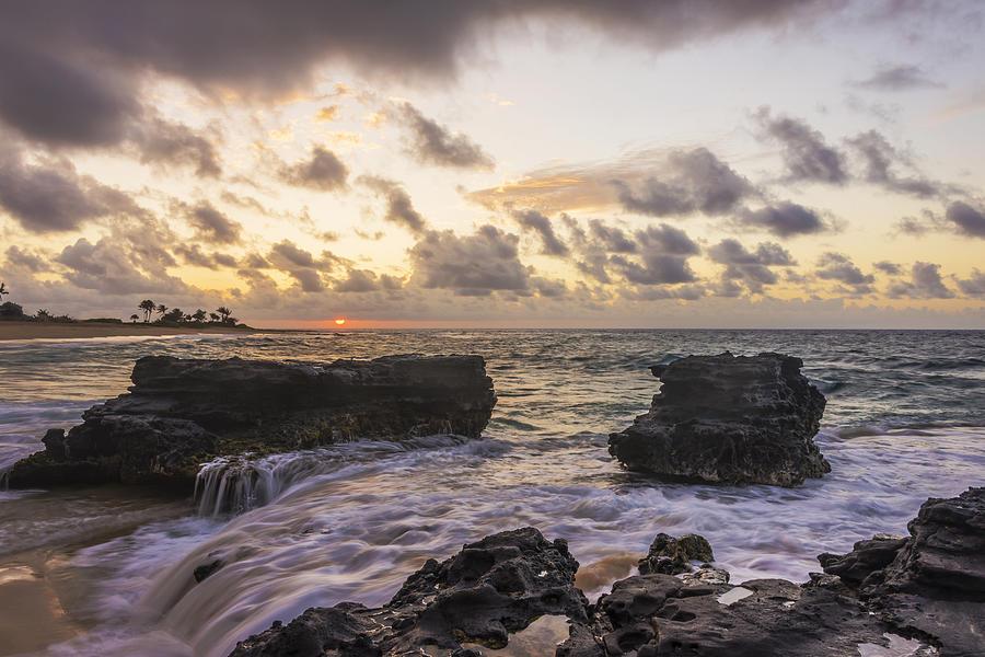 Sunrises Photograph - Sandy Beach Sunrise 1 - Oahu Hawaii by Brian Harig