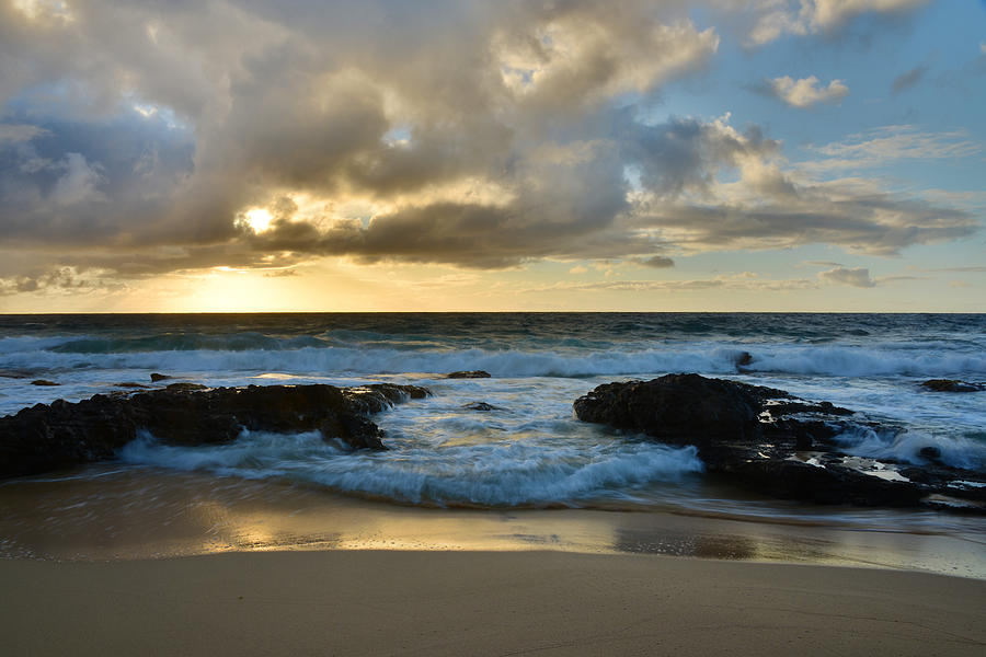 Sandy Beach Sunrise 4 - Oahu Hawaii Photograph by Brian Harig