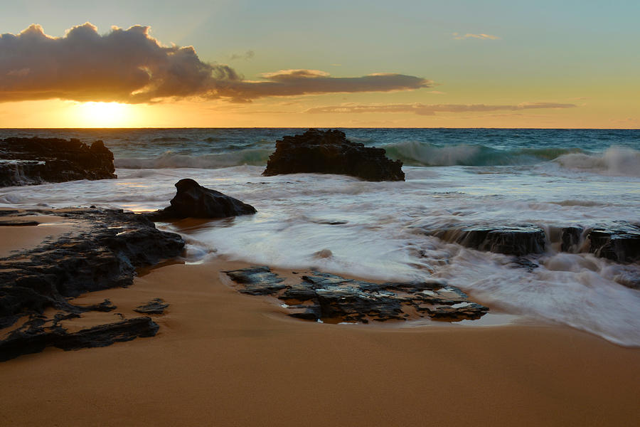 Sunrises Photograph - Sandy Beach Sunrise 7 - Oahu Hawaii by Brian Harig