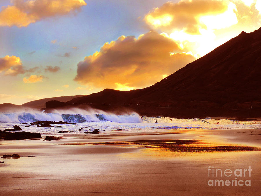 Sandy Beach Sunset Photograph