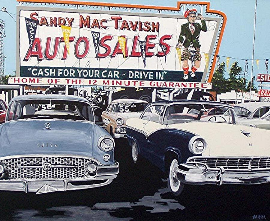 Sacramento Painting - Sandy Mactavish by Paul Guyer