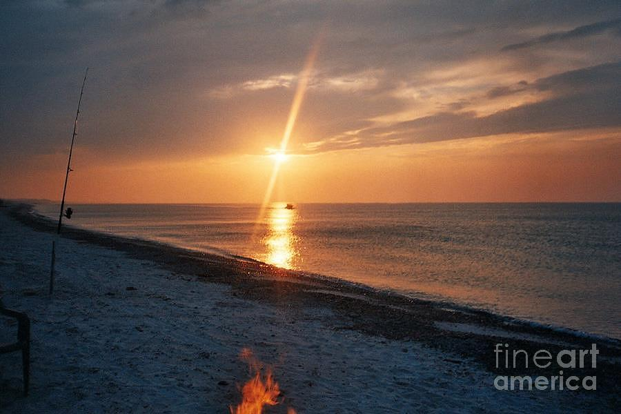 Sunset Tapestry - Textile - Sandy Neck Beach Sunset by Lisa  Marie Germaine