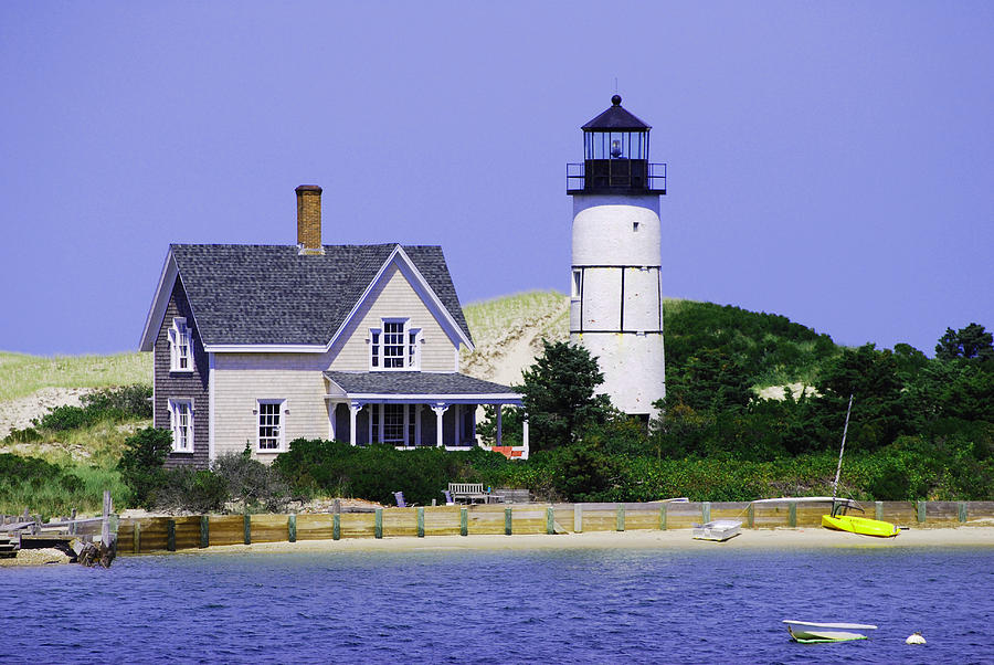 Cape Cod Photograph - Sandy Neck Lighthouse by Lorena Mahoney