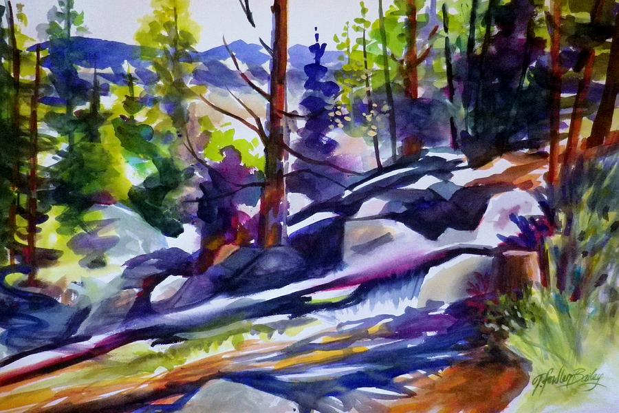Mountain Landscapes Painting - High Near Ponderosa  by Therese Fowler-Bailey