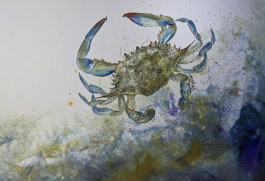 Crab Mixed Media - Sandy Surfer by Nancy Gorr