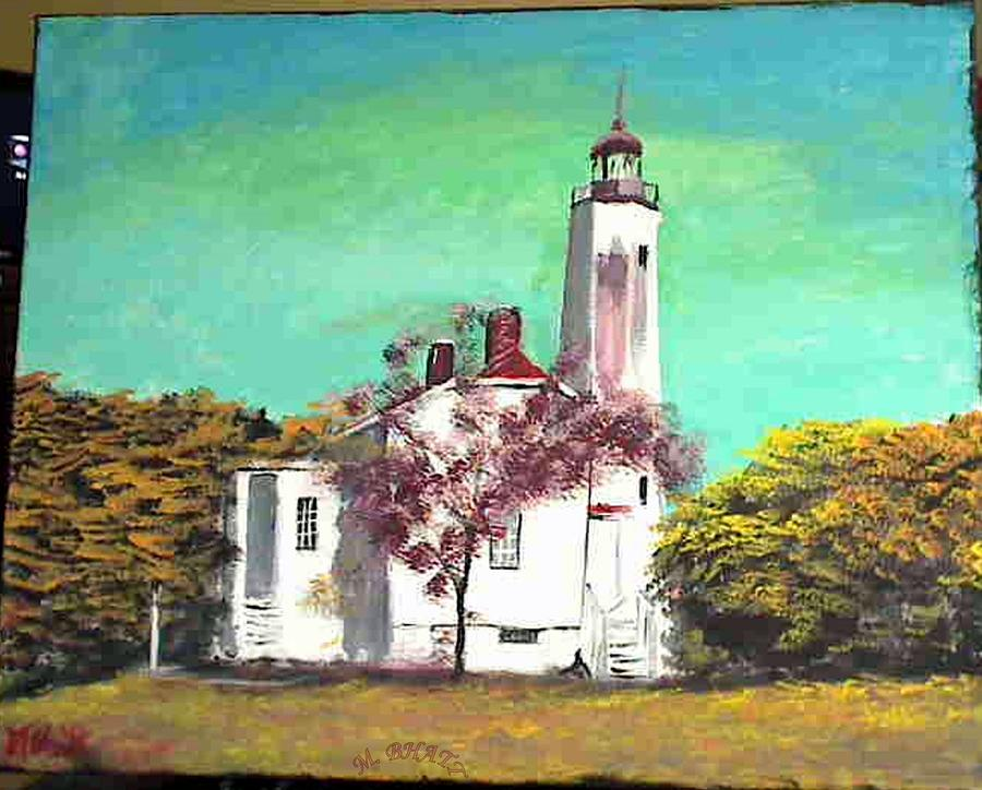 New Jersey Painting - Sandyhook Light House by M Bhatt